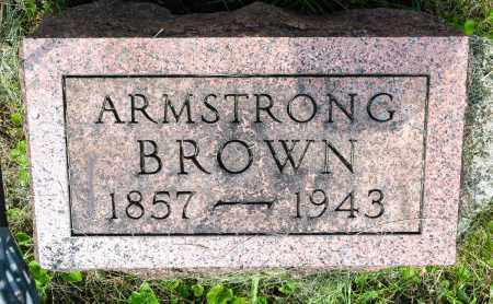 BROWN, ROBERT ARMSTRONG - Wayne County, Ohio | ROBERT ARMSTRONG BROWN - Ohio Gravestone Photos