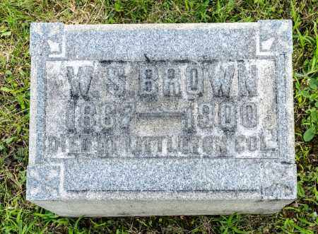 BROWN, WILLIAM S. - Wayne County, Ohio   WILLIAM S. BROWN - Ohio Gravestone Photos
