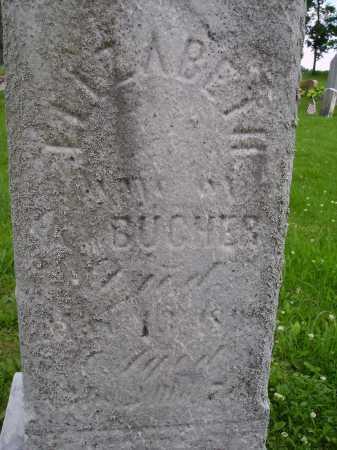 BUCHER, ELIZABETH - Wayne County, Ohio | ELIZABETH BUCHER - Ohio Gravestone Photos