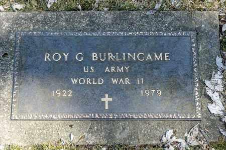 BURLINGAME, ROY G. - Wayne County, Ohio   ROY G. BURLINGAME - Ohio Gravestone Photos