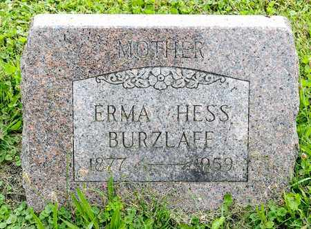 BURZLAFF, ERMA - Wayne County, Ohio | ERMA BURZLAFF - Ohio Gravestone Photos