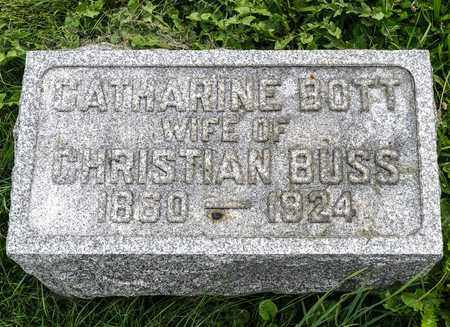 BOTT BUSS, CATHARINE - Wayne County, Ohio | CATHARINE BOTT BUSS - Ohio Gravestone Photos