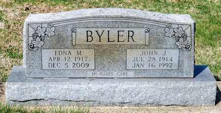 BYLER, EDNA M - Wayne County, Ohio | EDNA M BYLER - Ohio Gravestone Photos