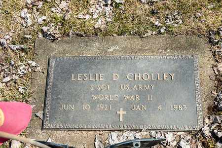 CHOLLEY, LESLIE D. - Wayne County, Ohio | LESLIE D. CHOLLEY - Ohio Gravestone Photos