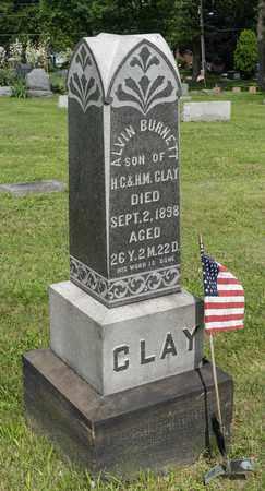 CLAY, ALVIN BURNETT - Wayne County, Ohio | ALVIN BURNETT CLAY - Ohio Gravestone Photos