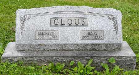 CLOUS, ELIZABETH - Wayne County, Ohio   ELIZABETH CLOUS - Ohio Gravestone Photos