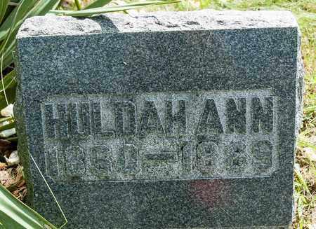 CORE, HULDAH ANN - Wayne County, Ohio | HULDAH ANN CORE - Ohio Gravestone Photos
