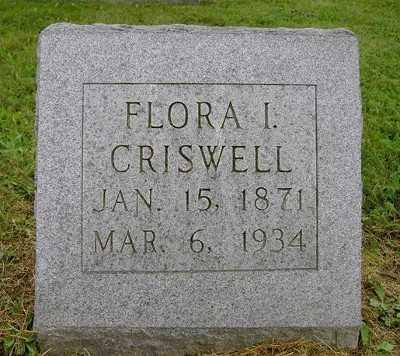 CRISWELL, FLORA I. - Wayne County, Ohio | FLORA I. CRISWELL - Ohio Gravestone Photos