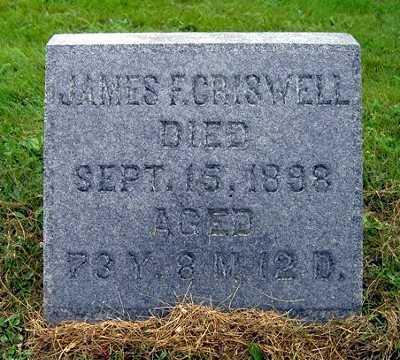 CRISWELL, JAMES F. - Wayne County, Ohio | JAMES F. CRISWELL - Ohio Gravestone Photos