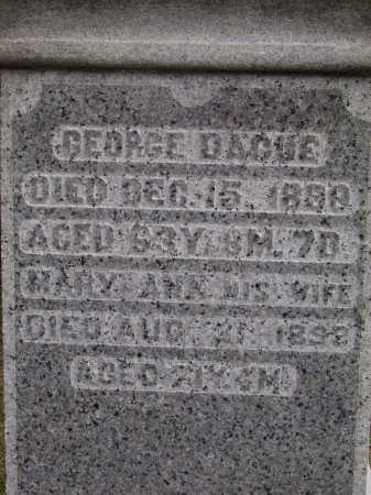 DAGUE, GEORGE - CLOSE VIEW - Wayne County, Ohio | GEORGE - CLOSE VIEW DAGUE - Ohio Gravestone Photos