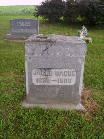 DAGUE, JACOB - Wayne County, Ohio   JACOB DAGUE - Ohio Gravestone Photos