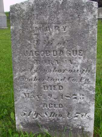 DAGUE, MARY - Wayne County, Ohio   MARY DAGUE - Ohio Gravestone Photos