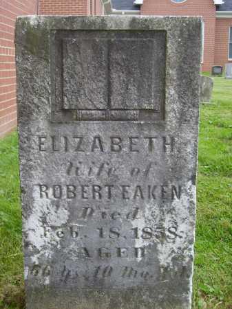 EAKEN, ELIZABETH - Wayne County, Ohio | ELIZABETH EAKEN - Ohio Gravestone Photos