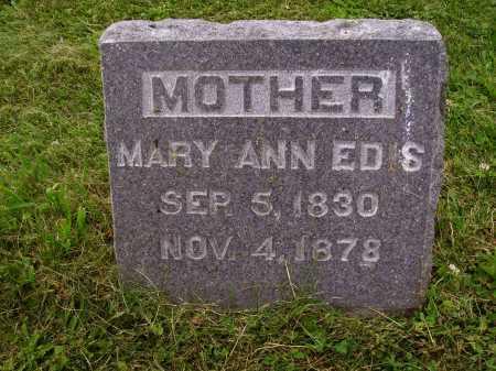 EDIS, MARY ANN - Wayne County, Ohio | MARY ANN EDIS - Ohio Gravestone Photos