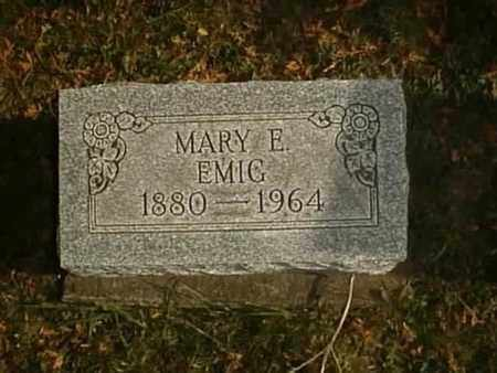EMIG, MARY E. - Wayne County, Ohio | MARY E. EMIG - Ohio Gravestone Photos