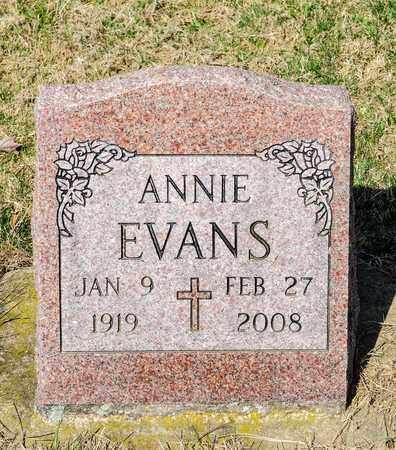 EVANS, ANNIE - Wayne County, Ohio   ANNIE EVANS - Ohio Gravestone Photos