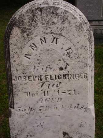 RICHMOND FLICKINGER, ANNA E. - Wayne County, Ohio | ANNA E. RICHMOND FLICKINGER - Ohio Gravestone Photos
