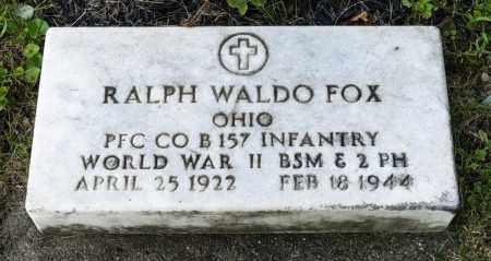 FOX, RALPH WALDO - Wayne County, Ohio   RALPH WALDO FOX - Ohio Gravestone Photos