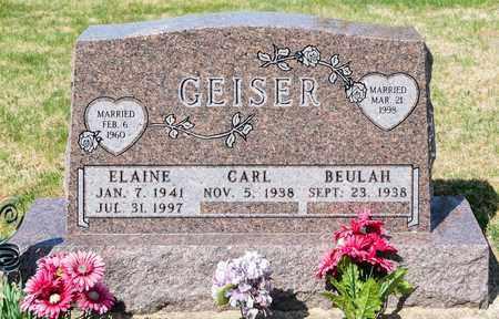 GEISER, ELAINE - Wayne County, Ohio | ELAINE GEISER - Ohio Gravestone Photos