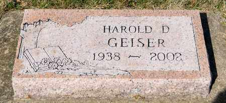 GEISER, HAROLD D - Wayne County, Ohio | HAROLD D GEISER - Ohio Gravestone Photos