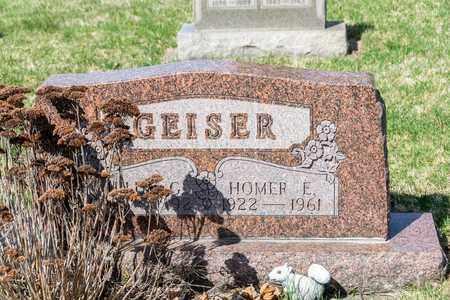 GEISER, HOMER E - Wayne County, Ohio | HOMER E GEISER - Ohio Gravestone Photos