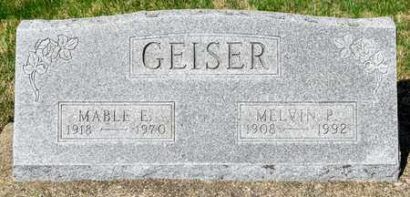 GEISER, MABLE E - Wayne County, Ohio | MABLE E GEISER - Ohio Gravestone Photos