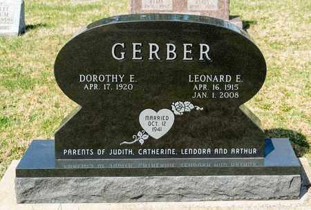 GERBER, LEONARD E - Wayne County, Ohio | LEONARD E GERBER - Ohio Gravestone Photos