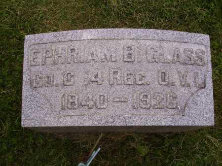 GLASS, EPHRIAM B. - Wayne County, Ohio | EPHRIAM B. GLASS - Ohio Gravestone Photos