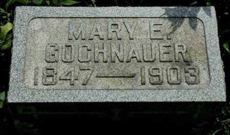 GOCHNAUER, MARY E. - Wayne County, Ohio   MARY E. GOCHNAUER - Ohio Gravestone Photos