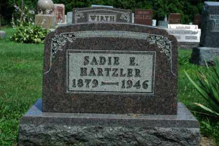 HARTZLER, SADIE E. - Wayne County, Ohio | SADIE E. HARTZLER - Ohio Gravestone Photos