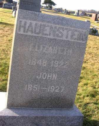 BLOSSER HAUENSTEIN, ELIZABETH - Wayne County, Ohio | ELIZABETH BLOSSER HAUENSTEIN - Ohio Gravestone Photos