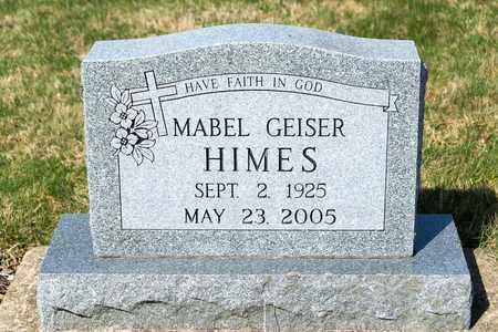 GEISER HIMES, MABEL - Wayne County, Ohio | MABEL GEISER HIMES - Ohio Gravestone Photos