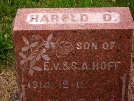 HOFF, HAROLD DAVID - TOP OF STONE - Wayne County, Ohio | HAROLD DAVID - TOP OF STONE HOFF - Ohio Gravestone Photos