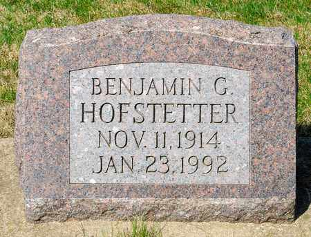 HOFSTETTER, BENJAMIN G - Wayne County, Ohio | BENJAMIN G HOFSTETTER - Ohio Gravestone Photos