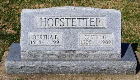 HOFSTETTER, BERTHA B - Wayne County, Ohio | BERTHA B HOFSTETTER - Ohio Gravestone Photos