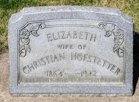 HOFSTETTER, ELIZABETH - Wayne County, Ohio | ELIZABETH HOFSTETTER - Ohio Gravestone Photos