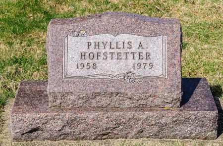 HOFSTETTER, PHYLLIS A - Wayne County, Ohio   PHYLLIS A HOFSTETTER - Ohio Gravestone Photos