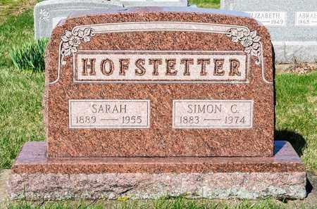 HOFSTETTER, SARAH - Wayne County, Ohio | SARAH HOFSTETTER - Ohio Gravestone Photos