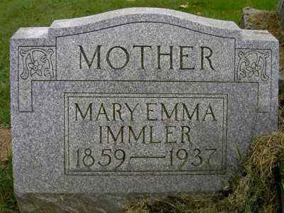 IMMLER, MARY EMMA - Wayne County, Ohio | MARY EMMA IMMLER - Ohio Gravestone Photos