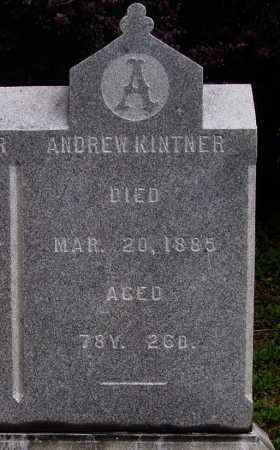 KINTNER, ANDREW - CLOSEVIEW - Wayne County, Ohio | ANDREW - CLOSEVIEW KINTNER - Ohio Gravestone Photos