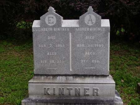KINTNER, ELIZABETH - OVERALL VIEW - Wayne County, Ohio | ELIZABETH - OVERALL VIEW KINTNER - Ohio Gravestone Photos