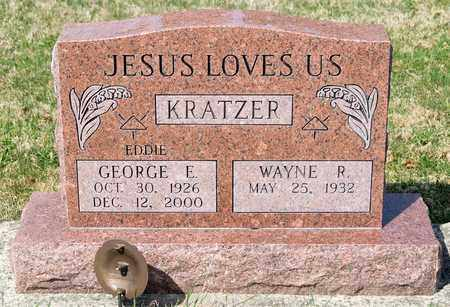 KRATZER, GEORGE E - Wayne County, Ohio | GEORGE E KRATZER - Ohio Gravestone Photos