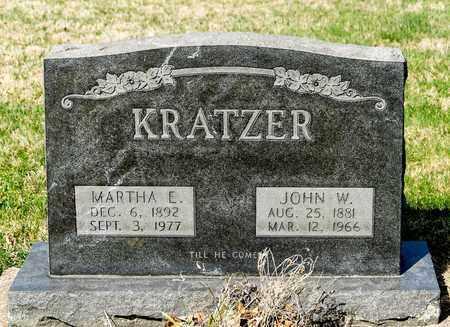 KRATZER, MARTHA E - Wayne County, Ohio | MARTHA E KRATZER - Ohio Gravestone Photos