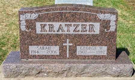 KRATZER, GEORGE W - Wayne County, Ohio | GEORGE W KRATZER - Ohio Gravestone Photos