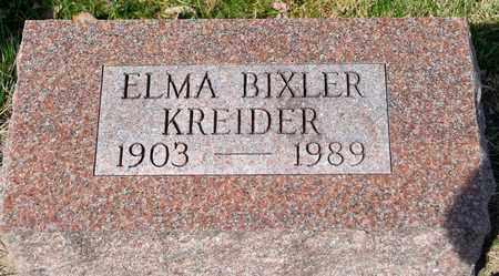 KREIDER, ELMA - Wayne County, Ohio | ELMA KREIDER - Ohio Gravestone Photos