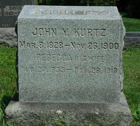 KURTZ, JOHN Y. - Wayne County, Ohio | JOHN Y. KURTZ - Ohio Gravestone Photos