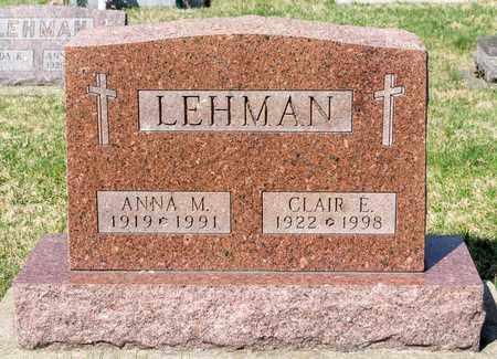 LEHMAN, CLAIR E - Wayne County, Ohio | CLAIR E LEHMAN - Ohio Gravestone Photos