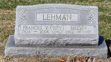LEHMAN, FRANCES V - Wayne County, Ohio | FRANCES V LEHMAN - Ohio Gravestone Photos