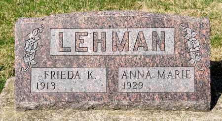 LEHMAN, FRIEDA K - Wayne County, Ohio | FRIEDA K LEHMAN - Ohio Gravestone Photos