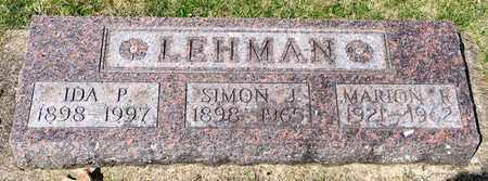 LEHMAN, MARION R - Wayne County, Ohio | MARION R LEHMAN - Ohio Gravestone Photos